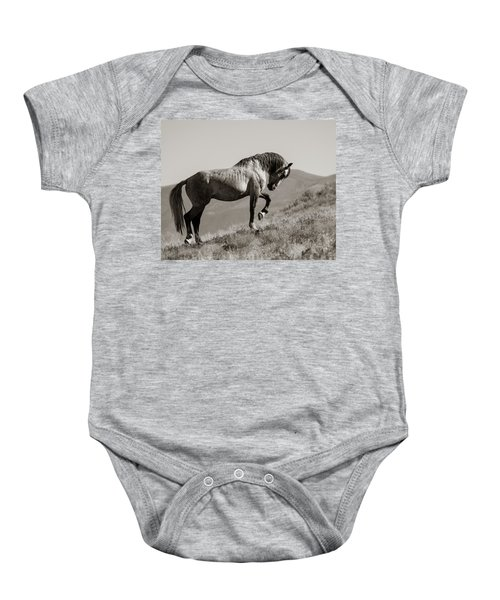 Baby Onesie featuring the photograph Proud by Mary Hone