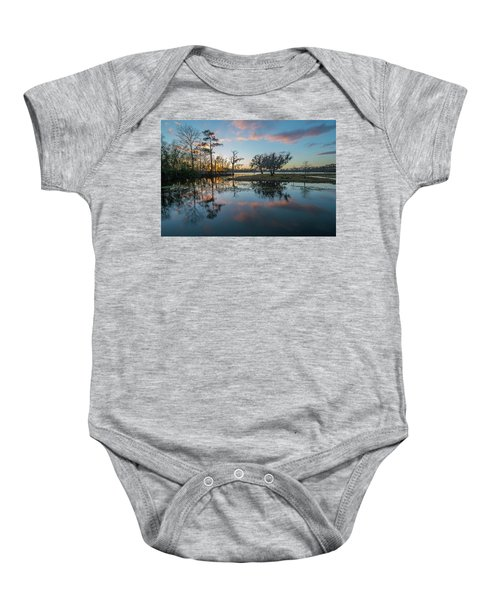 Quiet River Sunset Baby Onesie