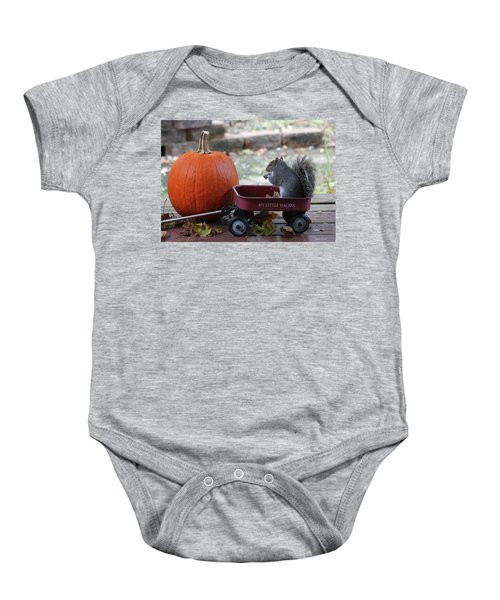 Ready To Ride My Little Red Wagon Baby Onesie