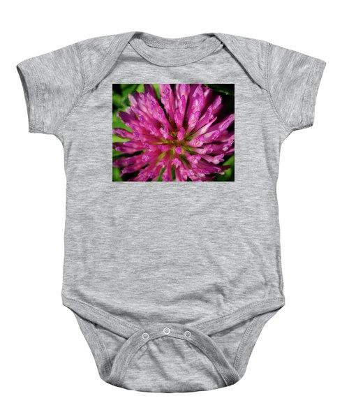 Red Clover Flower Baby Onesie