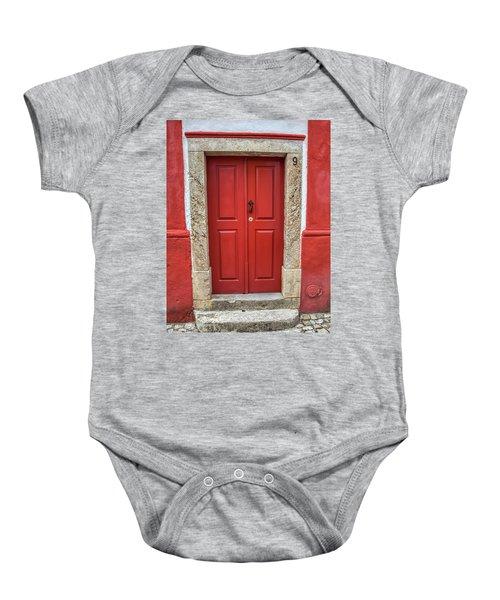 Red Door Nine Of Obidos Baby Onesie