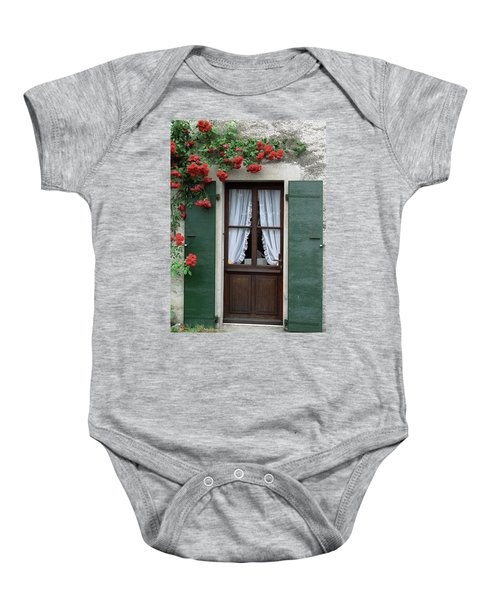 Red Rose Door Baby Onesie