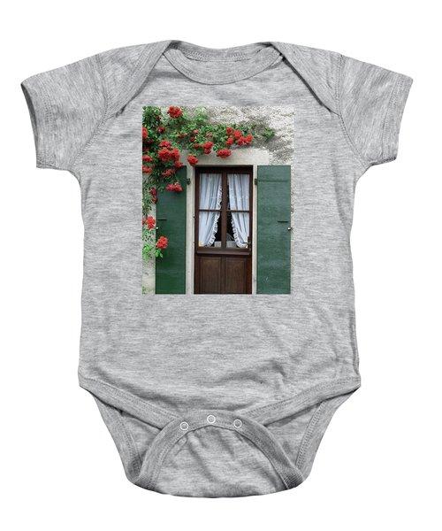 Red Rose Door Baby Onesie