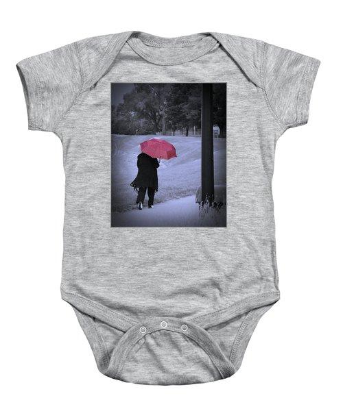 Red Umbrella Baby Onesie