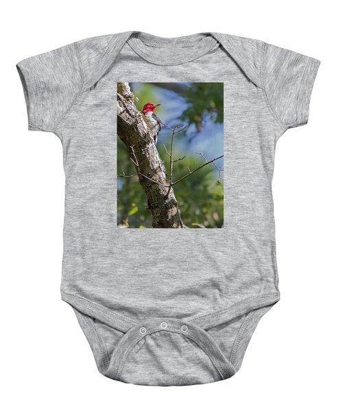 Redhead Woodpecker Baby Onesie