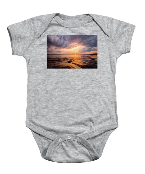 Reflect The Drama, Sunset At Fort Foster Park Baby Onesie