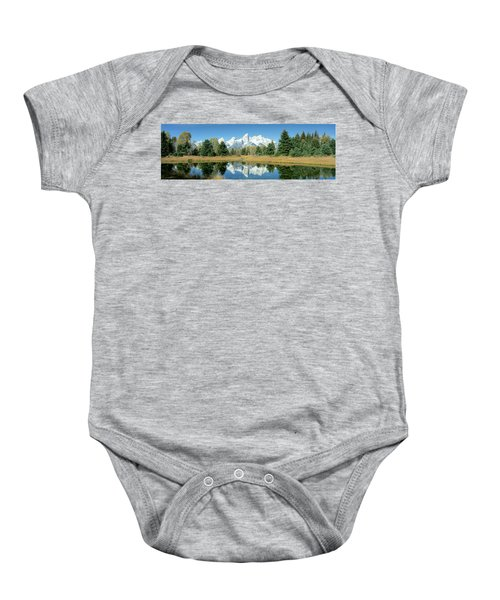 Reflection Of Mountains In Water, Grand Baby Onesie