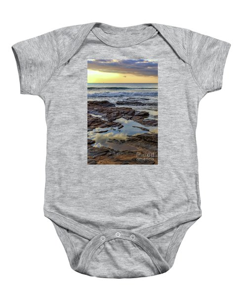 Reflections On The Rocks Baby Onesie
