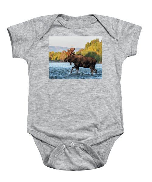 Baby Onesie featuring the photograph River Crossing by Mary Hone