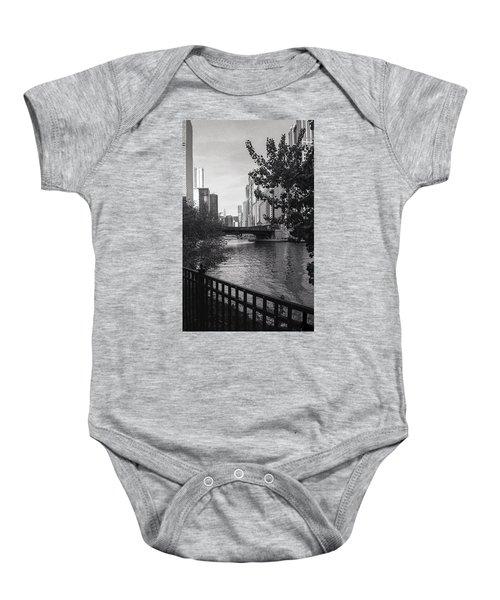 River Fence Baby Onesie