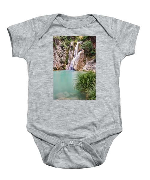 River Neda Waterfalls Baby Onesie