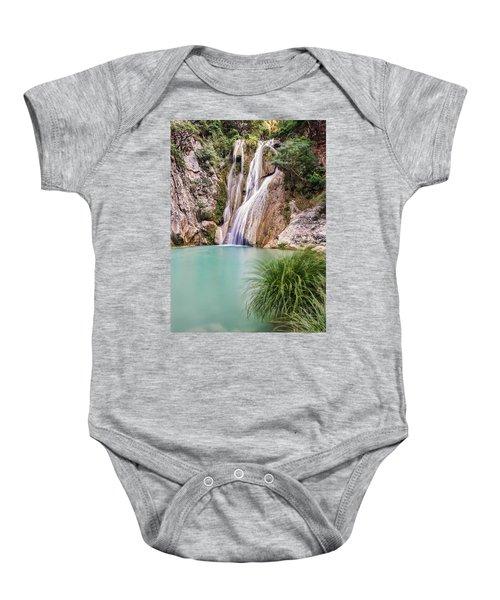 River Neda Waterfalls Baby Onesie