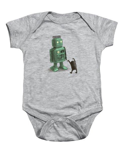 Robot Vs Alien Baby Onesie