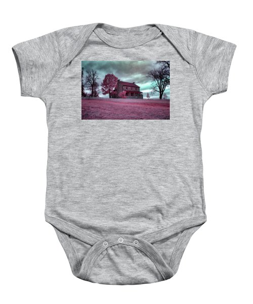 Rose Farm In Infrared Baby Onesie