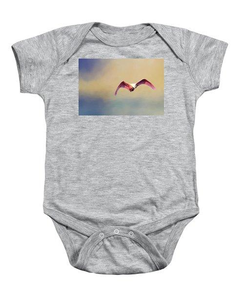 Roseate Spoonbill At Sunrise Baby Onesie