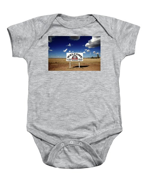 Route 66 - Midpoint Sign 2010 Bw Baby Onesie