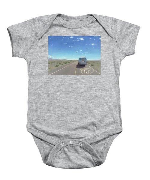 Route 66, Somewhere In California Baby Onesie