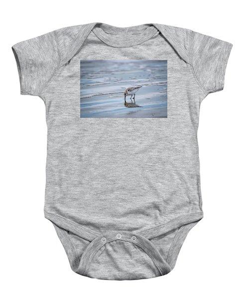 Sanderling Foraging Baby Onesie