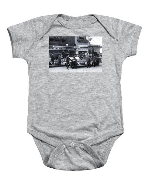 Santa Monica Firemen 1920 Baby Onesie
