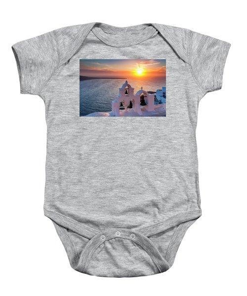Santorini Sunset Baby Onesie
