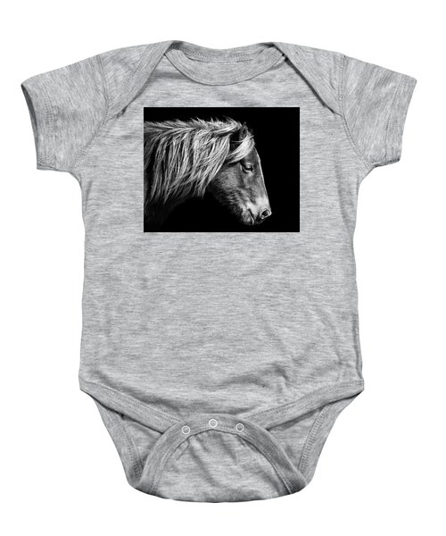 Sarah's Sweat Tea Portrait In Black And White Baby Onesie