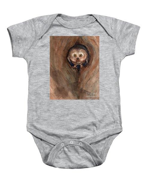 Scardy Owl Baby Onesie