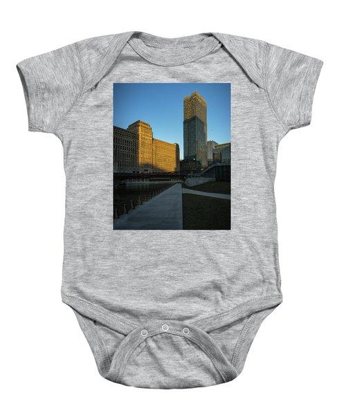 Shadows Of The City Baby Onesie