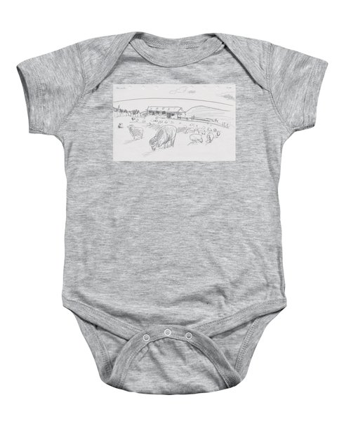 Sheep On Chatham Island, New Zealand Baby Onesie