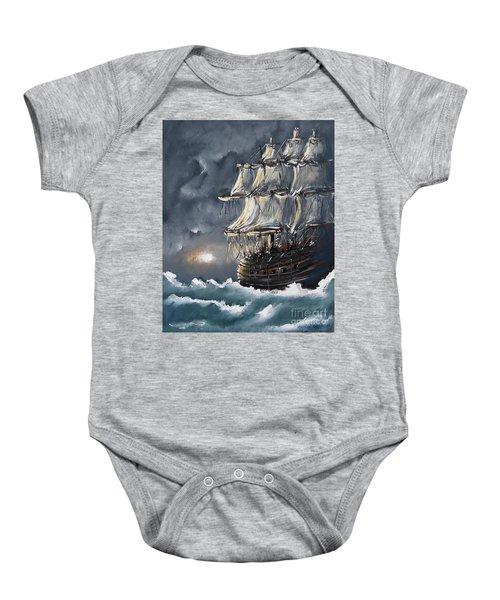 Ship Voyage Baby Onesie
