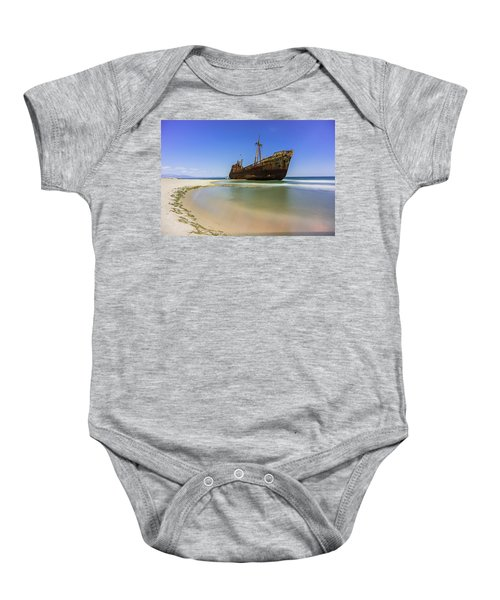 Shipwreck Dimitros Near Gythio, Greece Baby Onesie