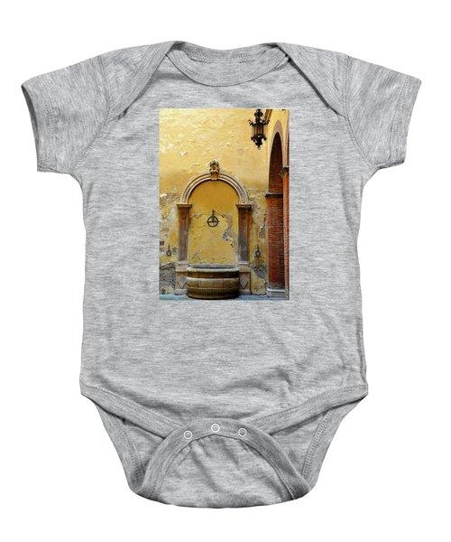 Sienna Fountain Courtyard Baby Onesie
