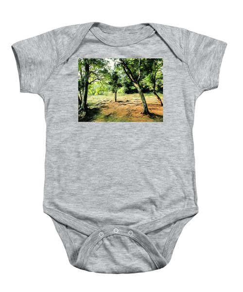 Silence Of Forest Baby Onesie
