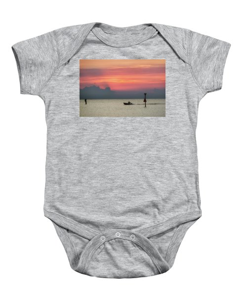 Silhouette's Sailing Into Sunset Baby Onesie