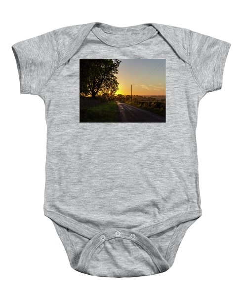 Silver Lines Baby Onesie