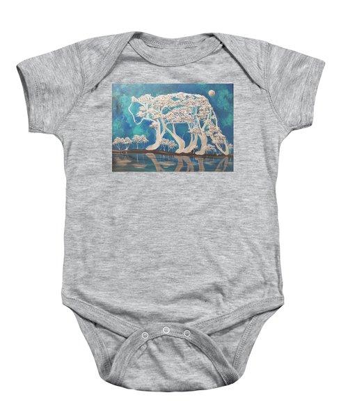 silver Wolf Baby Onesie