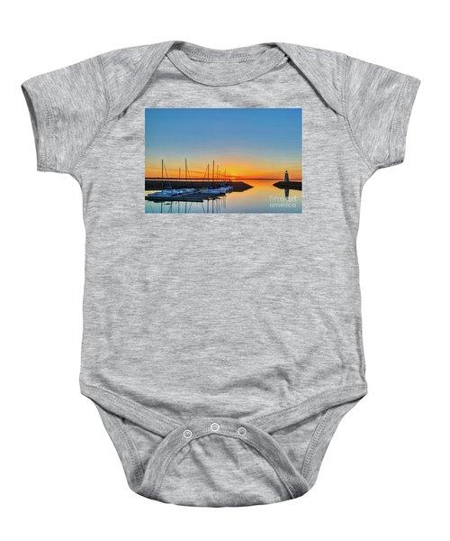 Sleeping Yachts Baby Onesie