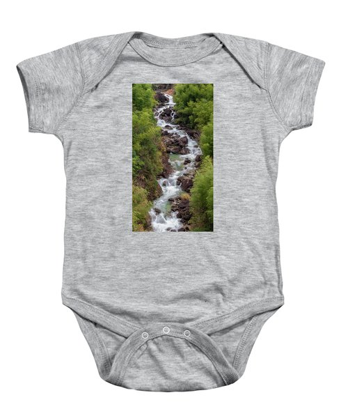 Small Cascade 1x2 Vertical Baby Onesie