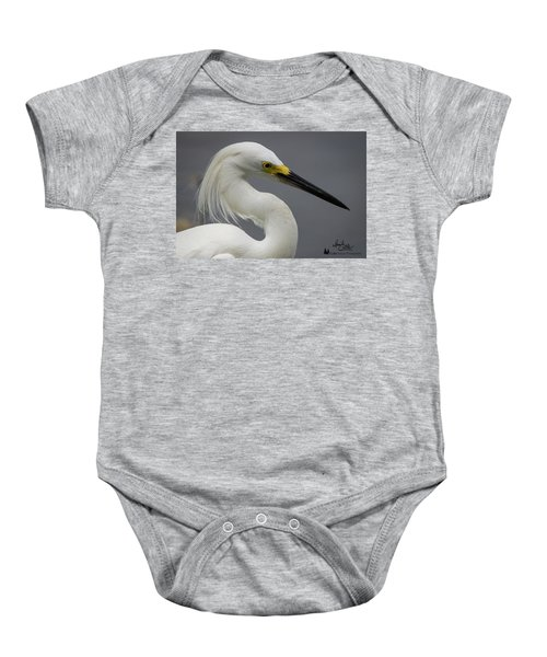 Snow Egret Portrait Baby Onesie