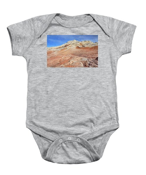 Solid Waves Pano Baby Onesie