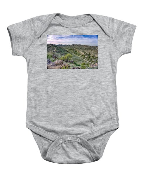 South Mountain Landscape Baby Onesie