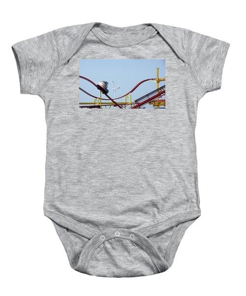 Southport.  The Fairground. Crash Test Ride. Baby Onesie