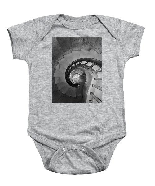 Spiral Staircase, Lakewood  Cemetary Chapel Baby Onesie