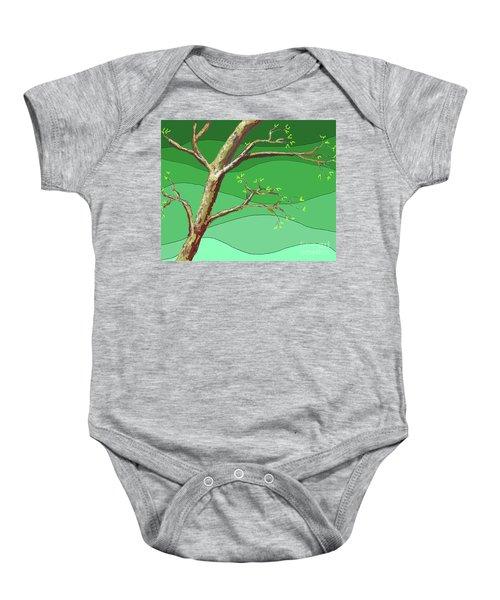 Spring Errupts In Green Baby Onesie