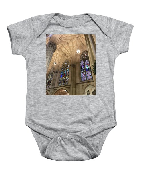 St Patricks Stained Glass Baby Onesie