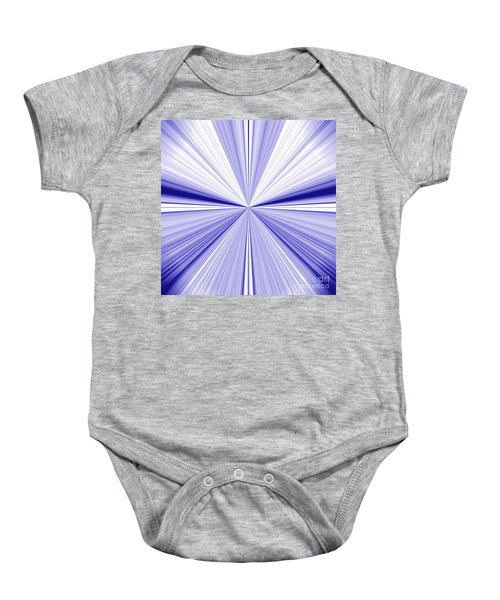 Starburst Light Beams In Blue And White Abstract Design - Plb455 Baby Onesie
