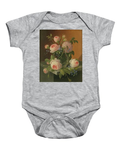 Still Life With Roses, Circa 1860 Baby Onesie