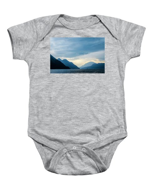 Storm Clouds On Lake Lucerne Baby Onesie