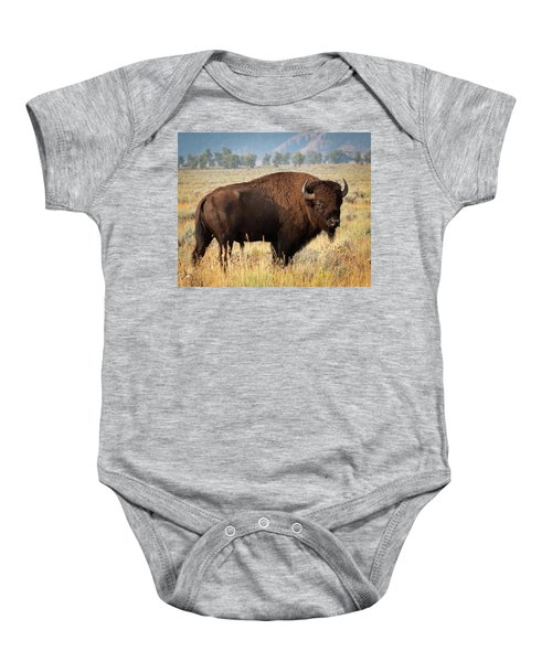 Baby Onesie featuring the photograph Strong And Proud by Mary Hone