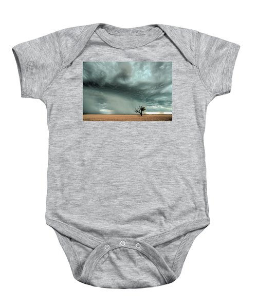Strong Lone Tree Baby Onesie