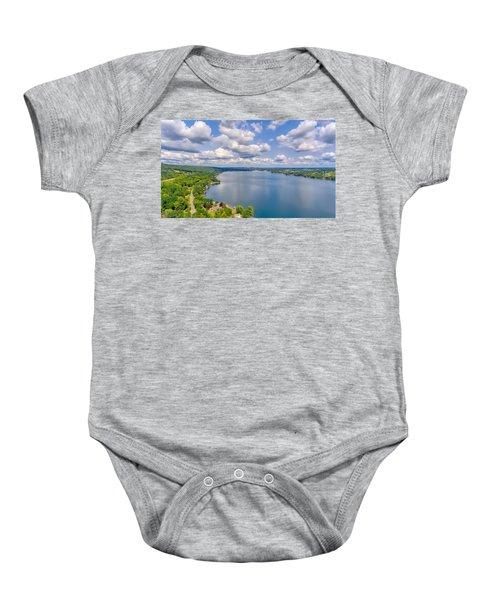 Summer Clouds On Keuka Lake Baby Onesie